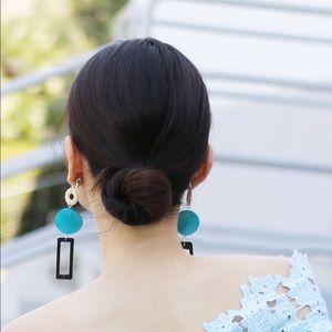 Retromas Audrey color-block wooden earrings